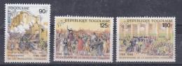 TOGO  :  Bicentenaire De La Révolution Française 1267 à 1269 Neuf XX - Franz. Revolution