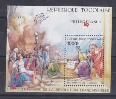 TOGO  :  Bicentenaire De La Révolution Française BF 277 Neuf XX Philexfrance 89 - Franz. Revolution