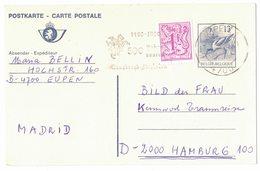 AI32   Entier Briefkaart 1990 Buzin  Eupen - Interi Postali