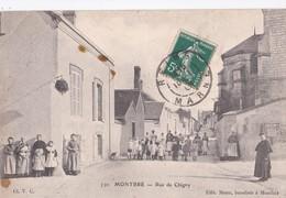 Carte 1909 MONTBRE / RUE DE CHIGNY (très Animée) - Francia