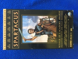 VHS: Spartacus, Kirk Douglas, Laurence Olivier, Dual Cassettes, Running Time, 3 Hours 16 Min. - Action, Adventure