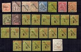 Réunion Belle Collection D'anciens **/*/oblitérés 1885/1893. Bonnes Valeurs. B/TB. A Saisir! - Neufs