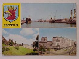 Szczecin   Port Hafen /  Poland  / Grues / Cranes / Grúas / 1970 Year - Bateaux