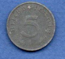 Allemagne  -  5 Reichspfennig 1941 F  -  Km# 100 -  état  TTB - [ 4] 1933-1945 : Third Reich
