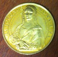 75 PARIS LE LOUVRE LA JOCONDE MONA LISA LÉONARD DE VINCI MÉDAILLE ARTHUS BERTRAND 2008 JETON MEDALS TOKEN COINS - 2008