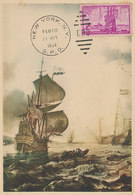 D35126 CARTE MAXIMUM CARD 1954 USA - US HISTORY ANNIVERSARY OF NEW YORK CP ORIGINAL - Geschiedenis