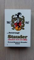 Zündholzschachtel Mit Bier-Werbung (Stauder) Aus Deutschland - Zündholzschachteln