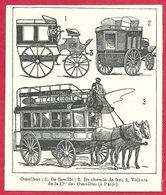 Omnibus, De Famille, De Chemin De Fer, De La Compagnie Des Omnibus (Paris), Larousse 1908 - Old Paper