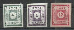 """Sowjetische Zone 61-63  """"3 Briefmarken Im Satz: Ziffernserie Ost.Sachsens, Geschnitten """" Postfrisch Mi.:1,10 - Zone Soviétique"""
