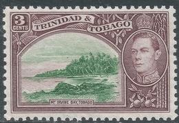Trinidad & Tobago. 1938-44 KGVI. 3c Green & Brown MH. SG 248a - Trinidad & Tobago (...-1961)