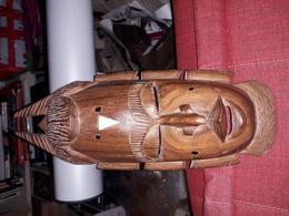 Magnifique  Sculpture En Bois 31x12 Cm Masque Africain - Unclassified