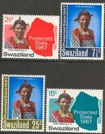 SWAZILAND 1967 Protected State Set (4v), XF MNH, MiNr 126-9, SG 124-7; C.v. €3.50 - Swaziland (1968-...)