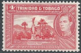 Trinidad & Tobago. 1938-44 KGVI. 4c Red MH. SG 249a - Trinidad & Tobago (...-1961)