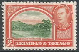 Trinidad & Tobago. 1938-44 KGVI. 8c MH. SG 251 - Trinidad & Tobago (...-1961)