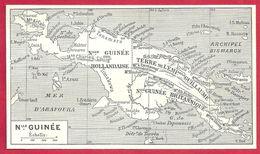 Carte De L'île De Nouvelle Guinée, Larousse 1908 - Old Paper