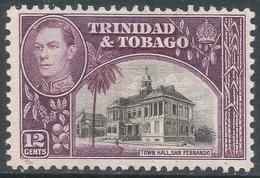 Trinidad & Tobago. 1938-44 KGVI. 12c MH. SG 252a - Trinidad & Tobago (...-1961)