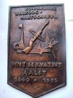 Plaquette  Koninklijke  BALBOOG Maatschappij    SINT SERVATIUS   AALST   1840 - 1975 - Tir à L'Arc