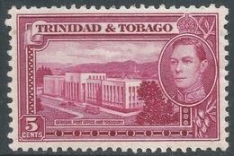 Trinidad & Tobago. 1938-44 KGVI. 5c MH. SG 249b - Trinidad & Tobago (...-1961)
