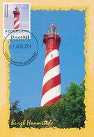 D35132 CARTE MAXIMUM CARD 2014 NETHERLANDS - BURGH HAAMSTEDE PHARE VUURTOREN LIGHTHOUSE CP ORIGINAL - Lighthouses