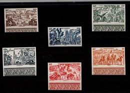 Martinique  1946  Série  Tchad  Au  Rhin  PA  De  7 à 12  Non  Dentelés  ** - Airmail