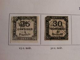 RARE COLLECTION TIMBRES TAXES Entre 1859 & 1983 NEUFS Et OBLITERES - Non Classés
