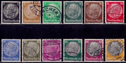 Germany, 1933-36, Pres. Hindenburg, Sc#415-431, Used - Used Stamps