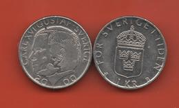 SUECIA - SWEDEN -  1 Krona 2000  KM852 - Suède