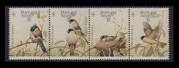 WWF - AZORES  - BIRDS -  1990  -  4  V. - MNH  -- - W.W.F.