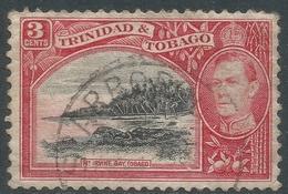 Trinidad & Tobago. 1938-44 KGVI. 3c Black And Red Used. SG 248 - Trinidad & Tobago (...-1961)