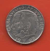 SUECIA - SWEDEN -  1 Krona 1992  KM852a - Suecia