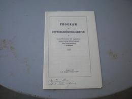 Program Vid Oppningshogtidligheten Strangnas 1925 - Programmi