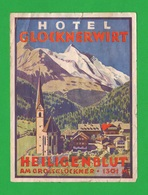 Am Grossclockner 1301 Mt  Albergo Adesivo In Carta  Hotel  Anni 50 - Hotel Labels