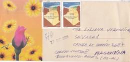 ENVELOPE CIRCULEE CIRCA 2006 ALGERIA TO ARGENTINE STAMPS A PAIR- BLEUP - Algerije (1962-...)