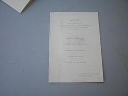 Menu St Eskil Restaurant Rogge 1925 - Menus