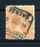 1889 SPAGNA N.208 USATO - 1889-1931 Kingdom: Alphonse XIII