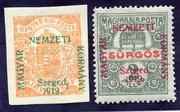 HUNGARY (SZEGED) 1919 Newspaper And Express Stamps  LHM / *.  Michel 1-2 - Szeged