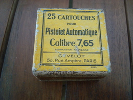Boite Vide 25 Cartouches 7,65 Mm Gevelot. - Decorative Weapons