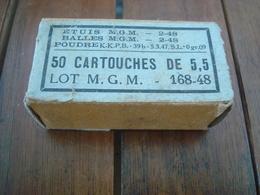 Boite Vide 50 Cartouches 5,5 Armée Française. - Armes Neutralisées