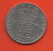 SUECIA - SWEDEN -  1 Krona 1969  KM826a - Suecia