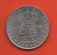 SUECIA - SWEDEN -  1 Krona 1971  KM826a - Suecia