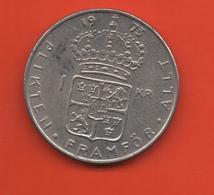 SUECIA - SWEDEN -  1 Krona 1973  KM826a - Suecia