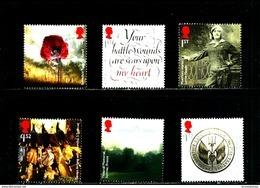 GREAT BRITAIN - 2016  THE GREAT WAR  SET  MINT NH - 1952-.... (Elisabetta II)
