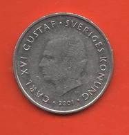 SUECIA - SWEDEN -  1 Krona 2001  KM894 - Suecia