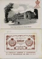 1955 - LE CHOCOLAT   LOMBART   A L'EXPOSITION UNIVERSELLE DE 1900 - GRAND PALAIS DES BEAUX ARTS - Schokolade