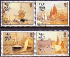 ISLE OF MAN 1987 SG 340-43 Compl.set Used Paintings By John Miller Nicholson - Isle Of Man