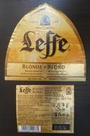 Etiquette Bière Blonde Blond Leffe Anno 1240   75 Cl - Beer
