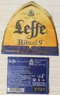 Etiquette Bière Rituel 9  Leffe Anno 1240   75 Cl - Beer