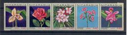 NICARAGUA 1967 - FLORA - FIORI POSTA AEREA - SERIE COMPLETA - IN STRISCIA - MNH** - Nicaragua