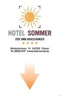 Deutschland: Hotel Sommer, Füssen - Hotelkarten