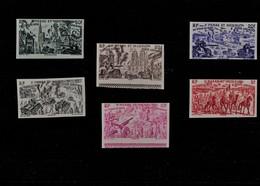 St  Pierre Et Miquelon  1946  Série  Tchad  Au  Rhin  PA  De  12 à 17  Non Dentelés ** - Nuovi